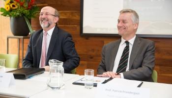 Brian McCrea (President DCU) and Patrick PRendergast (Provost Trinity)