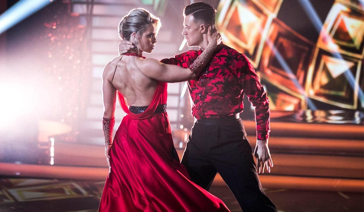 Dancing with the Stars Anna Geary with Kai Widdrington