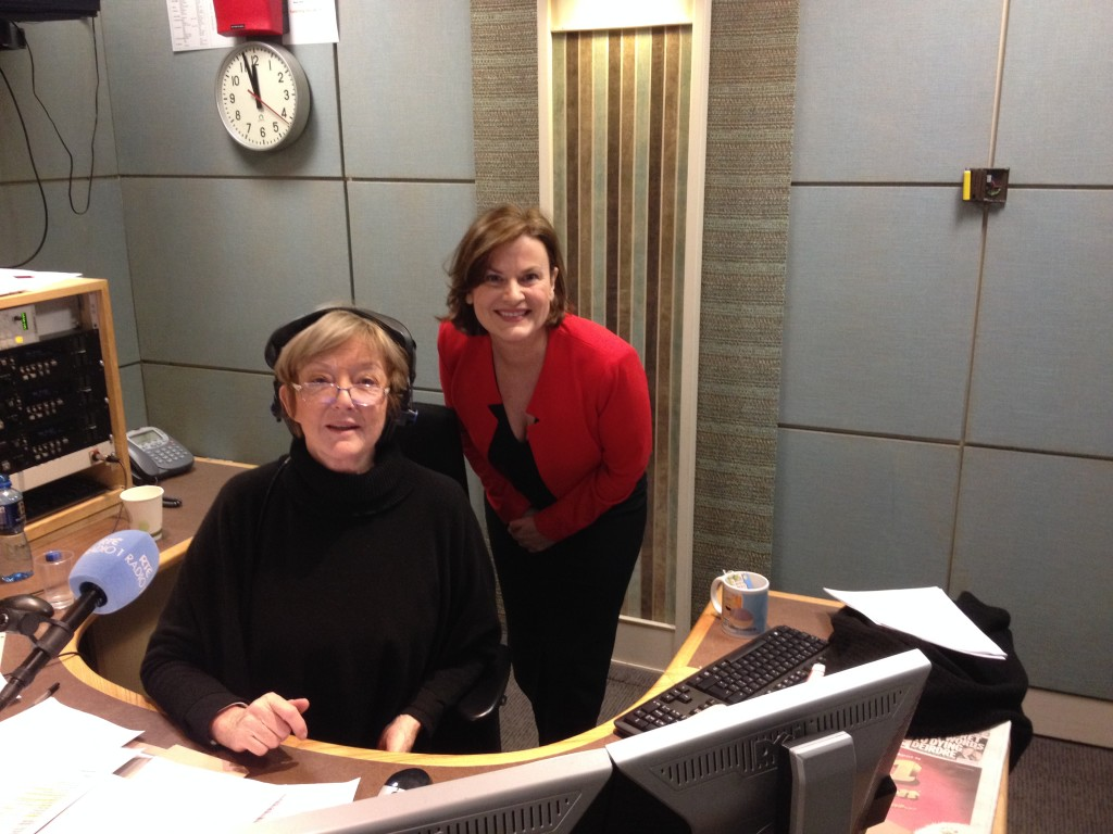 two women in radio studio