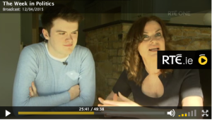 Sabina Brennan, Gavin Brennan, RTE THe Week in Politics, Marriage Equality