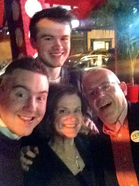 Selfie Jamie Doyle, Gavin Brennan, Sabina Brennan & Karl Hayden