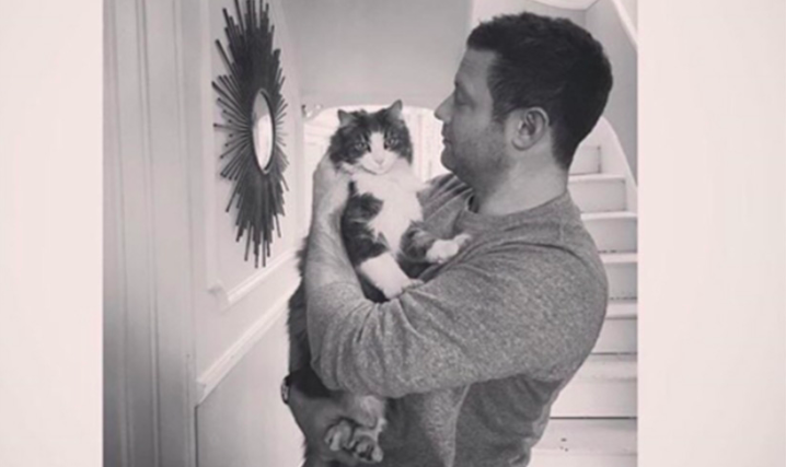 Dermot Oleary with Cat