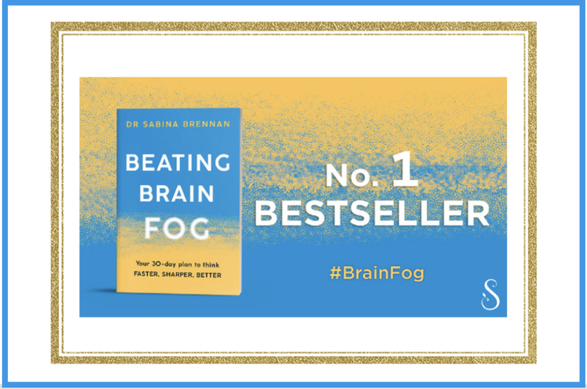Book with text Beating Brain Fog No 1 Bestseller